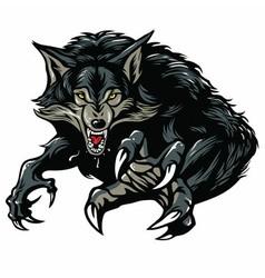 Werewolf Character Design vector image