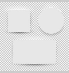 white blank model template top view with shadow vector image