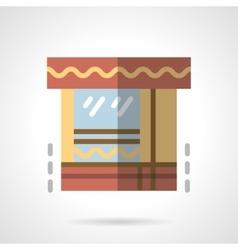 Market flat color icon vector image vector image