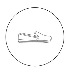 moccasin icon in outline style isolated on white vector image vector image
