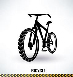 mountain bike symbol vector image vector image