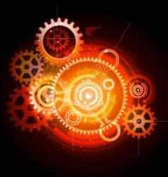 techno gears vector image