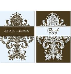 Thank you card Templates vector image vector image
