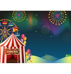 An amusement park vector image vector image