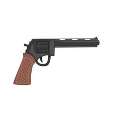 classic pistol gun cartoon vector image