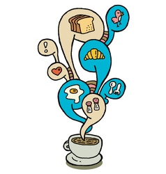 coffeecup series breakfast vector image