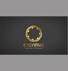 creative people gold logo design vector image vector image
