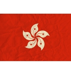 Hong Kong paper flag vector image