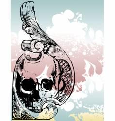 money grunge skull vector image vector image