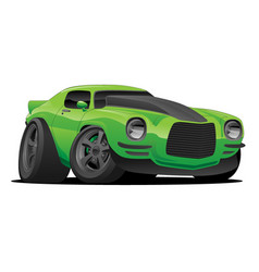 muscle car cartoon vector image