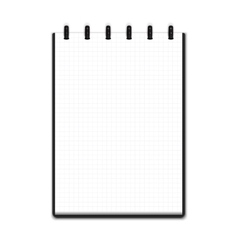 Realistic blank notepad vector image