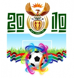 world cup in south Africa 2010 vector image vector image