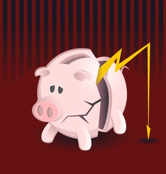 Bankruptcy Piggy Banks vector image