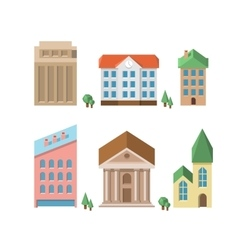 Buildings 3d houses vector image vector image