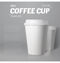 Coffee Cup Set with Blur Depth of Field vector image vector image