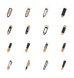 edit icon set vector image
