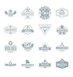 molecule logo icons set simple style vector image
