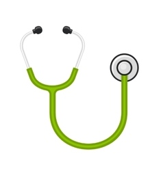Stethoscope Icon on White Background vector image vector image