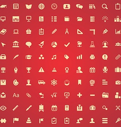 100 education icons vector image
