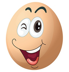 A smiling egg vector image