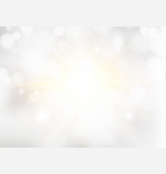 Abstract white blurred beautiful shine background vector