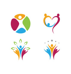 Adoption and community care logo template i vector
