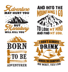 adventure quote and saying set good for print vector image