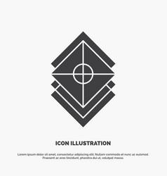 Arrange design layers stack layer icon glyph gray vector