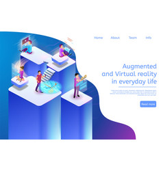 augmented and virtual reality in everyday life 3d vector image
