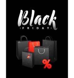 Black Friday Sale Shopping Bag Promo Abstract vector