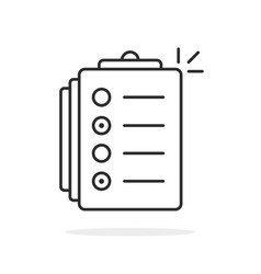 Black thin line test or exam icon vector
