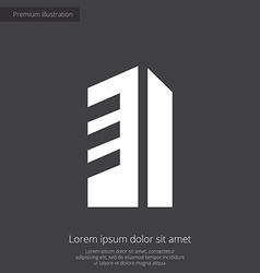 building premium icon white on dark background vector image