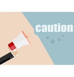 caution Flat design business vector image