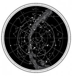 Celestial map vector