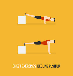 Chest exercises decline push up vector
