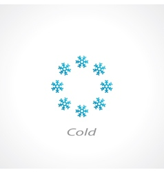cold symbol vector image