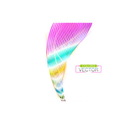Colorful striped shape scene on a white vector