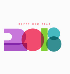 creative 2018 text colorful design vector image