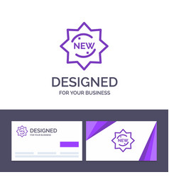 creative business card and logo template new vector image