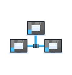 data center access icon cloud computer connection vector image