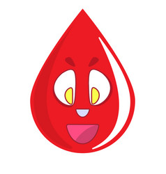 Donate drop blood logo donor concept blood icon vector