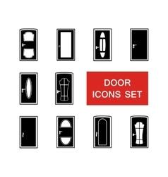 door set with red signboard vector image