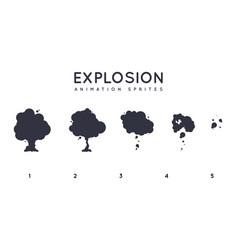explosion storyboard sprite set for animation set vector image