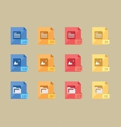 File extensions vector