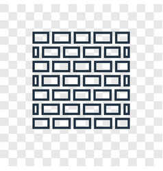 firewall concept linear icon isolated on vector image