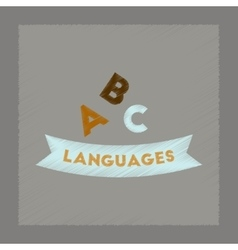 Flat shading style icon letters languages vector