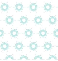floral snowflake pattern vector image