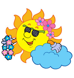 Hawaiian sun vector