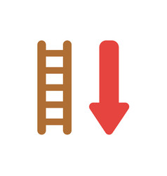 icon concept of wooden ladder with arrow moving vector image