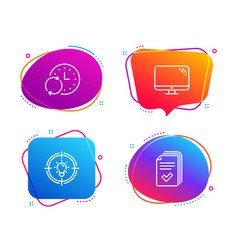 Idea update time and computer icons set handout vector